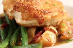 Roast Chicken Breast with Baby Turnips and Green Beans